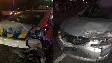 В Киеве пьяная женщина за рулем протаранила авто патрульных: первые детали и кадры с места ДТП