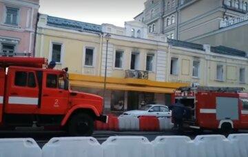 Пожежа охопила ресторан в центрі Києва: кадри НП