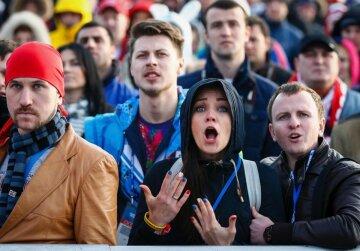 толпа, удивление, россияне