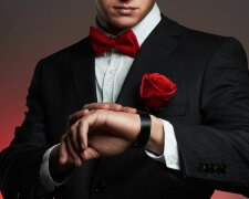 холостяк, роза, мужчина, костюм