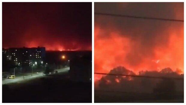 """Луганщина в огне, люди срочно покидают дома, есть раненые и погибшие: """"Как в фильме апокалипсис"""", кадры пекла"""
