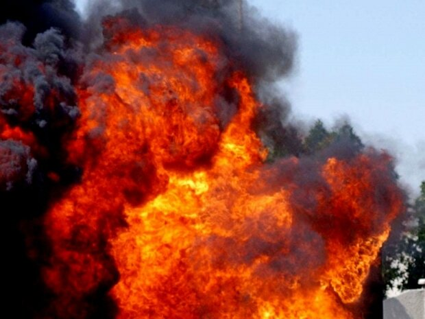взрыв огонь пожар