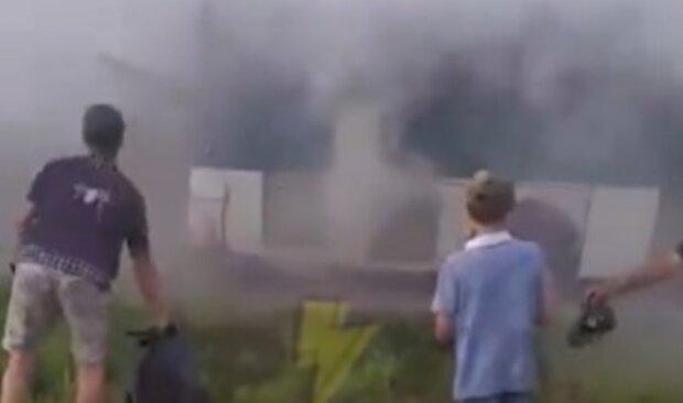 пожар, автобус, Харьков
