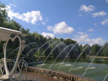 погода, фонтан, літо
