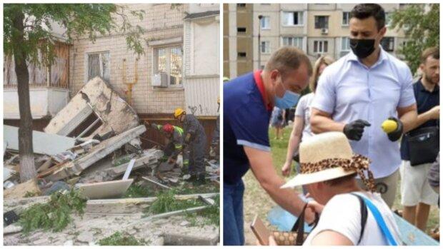 """""""У людей горе, а Коля..."""": Тищенко сильно зганьбився на місці вибуху багатоповерхівки в Києві, кадри"""