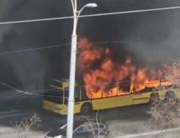 Автобус на ходу загорівся в Києві, рятувальники не встигли: перші кадри НП