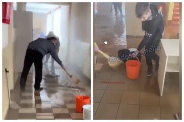 В Одесі учні влаштували вибух прямо в школі, весь коридор залило окропом: відео НП
