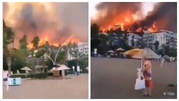 """Українці опинилися в епіцентрі пожеж у Туреччині, вогонь дістався готелів: """"Страшно"""""""