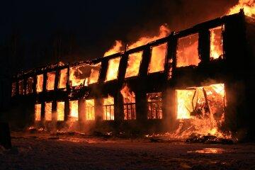 пожар,огонь, школа,