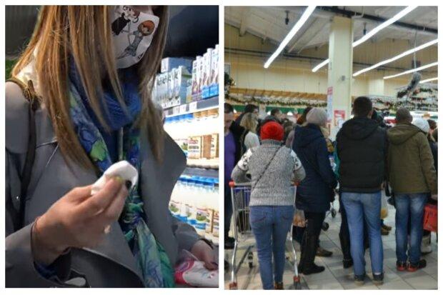 """Что происходит в супермаркетах Одессы на карантине, видео: """"Грязные полки и ..."""""""