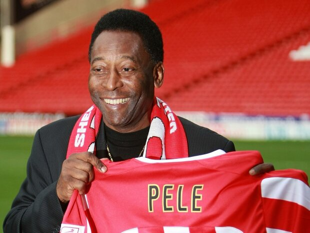 Pele Attends Ceremony For Worlds Oldest Football Club