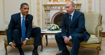 Обама Путин