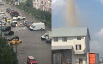 Смерч пронесся пригородом Москвы, улицы уходят под воду: кадры стихии в РФ