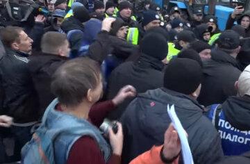 толпа, нападение, протест