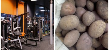 Харьковчанин с мешком картошки прославился в сети, видео: вместо спортзала на карантине