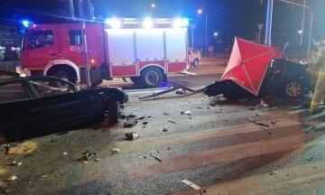 Авто с украинцами разбился в Польше, выжила лишь одна пассажирка: фото с места ДТП
