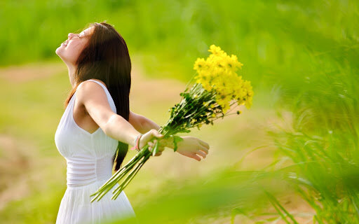 весна, щастя, радість, жінка