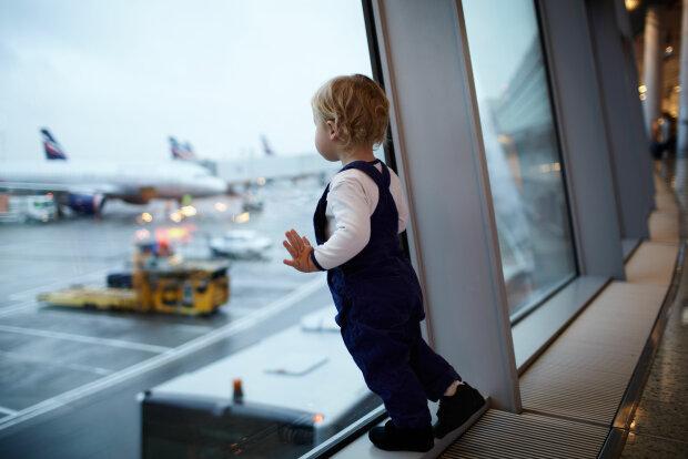 ребенок, дети, аэропорт, алименты