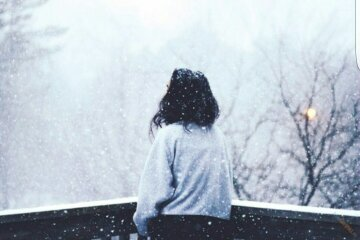 самотність, смуток, жінка, депресія, зима