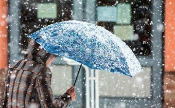 Снег дождь зима