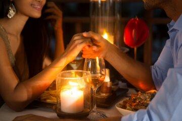 влюбленные, ресторан