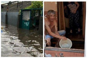 """Одесити рятують свої будинки після масштабної повені, відео: """"Черпають воду мисками"""""""