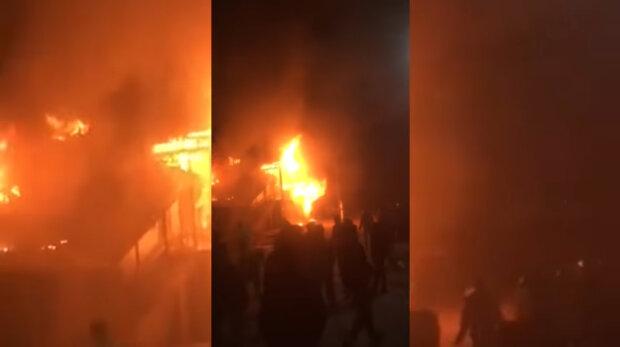 Пекло на кордоні: чутно стрілянину, все у вогні і диму, кадри масштабної НП