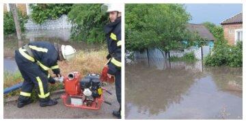 Нещастя обрушилося на харків'ян в результаті стихії: затоплені будинки, фото