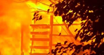 В Киеве загорелся жилой дом, из огня вытащили человека: кадры масштабного ЧП