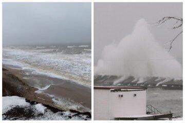 """""""Такого моря вы еще не видели"""": у берегов Одессы ветер поднял трехметровые волны, видео"""