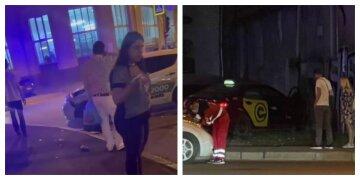 У Харкові зіткнулися два авто таксі, постраждали маленькі діти: фото з місця
