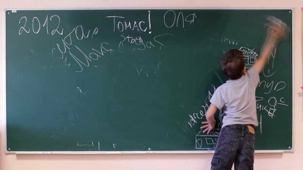 ребенок, школа, доска