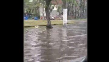 Потоп стався в Одесі: з'явилося відео, як вулиця пішла під воду