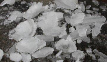 """Киевлянка серьезно пострадала из-за упавшей с крыши глыбы льда: """"лежит без сознания, на месте ждут врачей"""""""