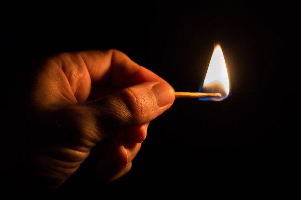 спичка, огонь, поджог