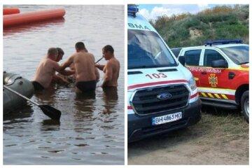 Кричав про допомогу: чоловік вирішив переплисти на інший берег лиману, але не розрахував сили