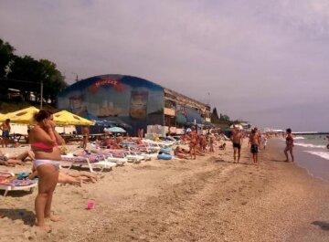 пляж, море, лето, одесситы