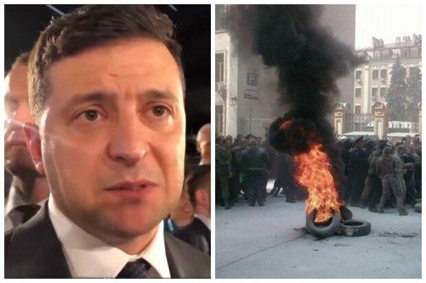 Майдан под окнами Зеленского: украинцы восстали против путинских законов, первые кадры