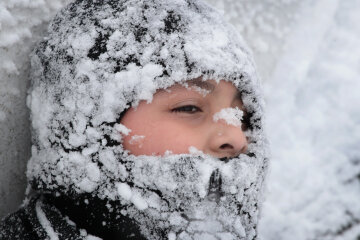 зима, снег, метель, снегопад