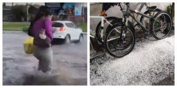 """Украину заливают мощные дожди с градом, ливневки не справляются: кадры """"потопа"""""""