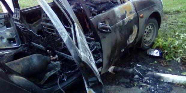 Грабители банкомата случайно подорвали свою машину (видео)