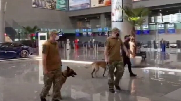 Охранник устроил переполох в аэропорту Одессы, угрожая взрывом: появилось видео
