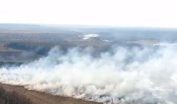 Масштабный пожар на Ровенщине: в огненном кольце оказалась целая деревня, кадры ЧП