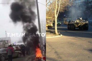 Столкновения начались из-за возвращения украинцев из Китая, стягивают Нацгвардию: кадры атаки