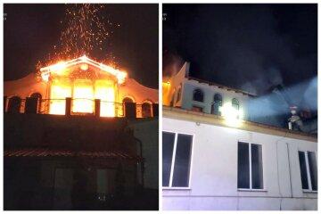 """Крупный пожар охватил гостиницу, кадры с места: """"Пламя уничтожило 450 кв. метров"""""""
