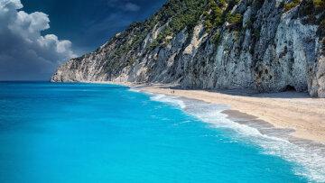 берег океана природа пляж горы