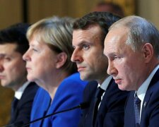 Зеленський, Путін, Макрон, Меркель