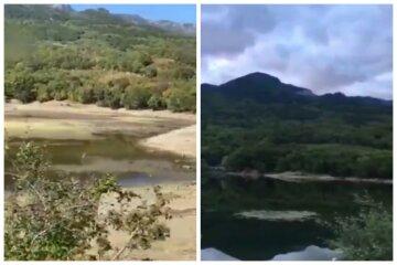 Крым настигла катастрофа, от одного из красивейших озер ничего не осталось: опубликованы кадры до и после