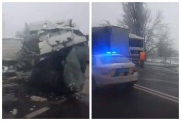 Фури зіткнулися на трасі Одеса-Миколаїв, є постраждалі: кадри масштабної ДТП