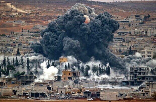 взрыв, бомбардировка, война